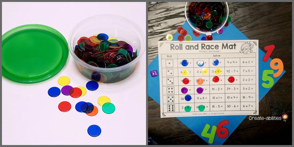 game markers for math centers