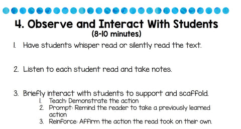 observe and interact with students