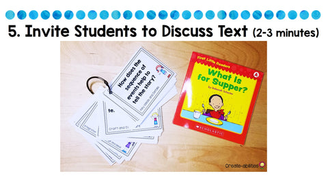 invite students to discuss text