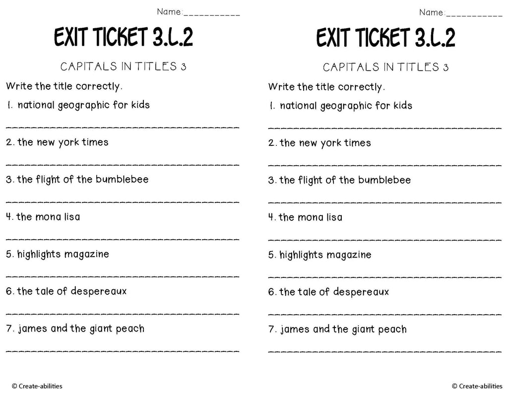 Capital letters commas and quotation marks exit tickets create capital letters commas and quotation marks exit tickets altavistaventures Choice Image