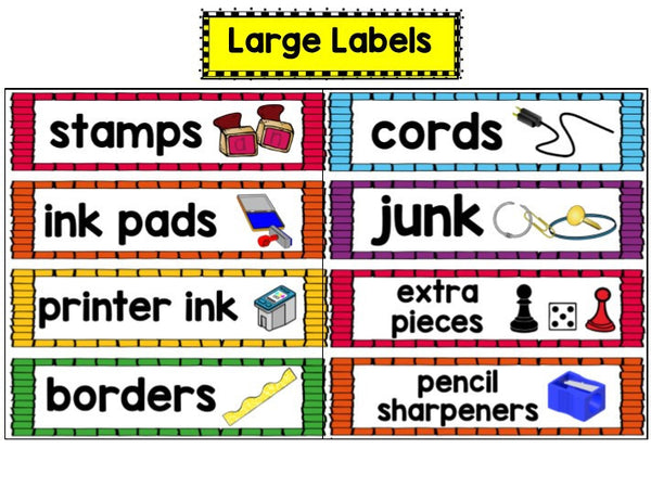 Classroom Supply Labels EDITABLE