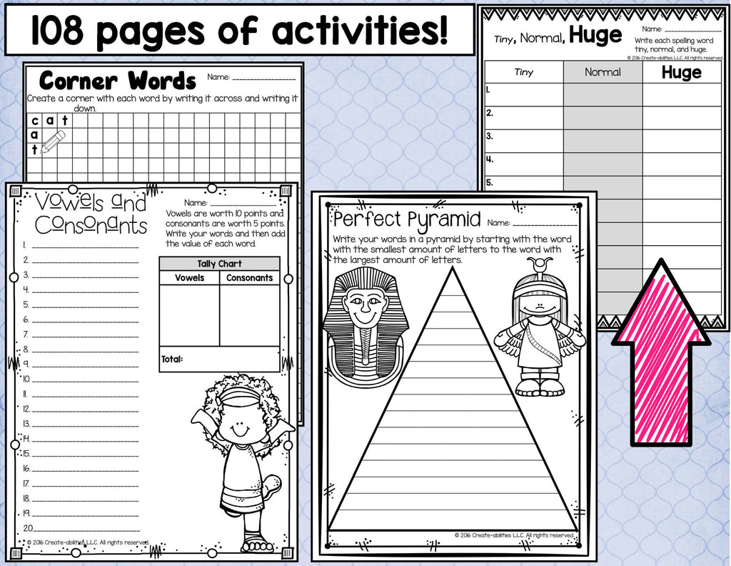 Spelling Activities For Any List – Create-abilities