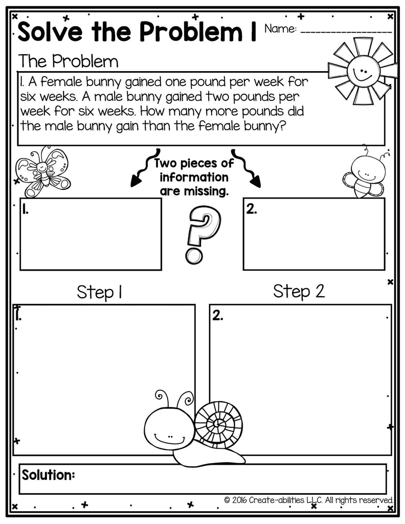 worksheet 2 Step Word Problems free 2 step word problems using the four operations create abilities operations