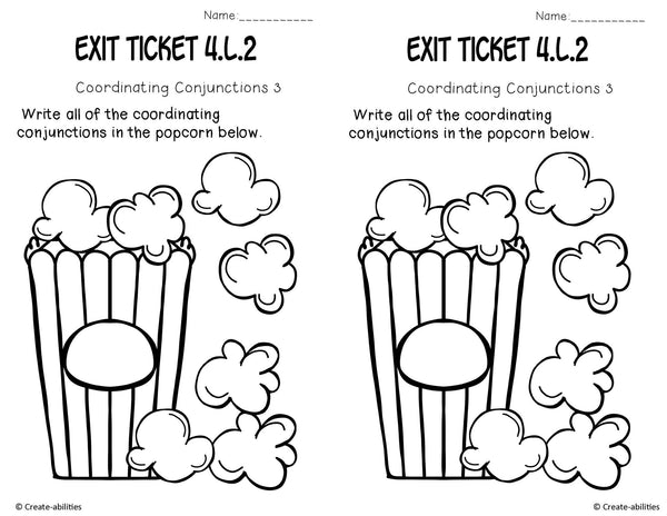 Conventions Exit Tickets