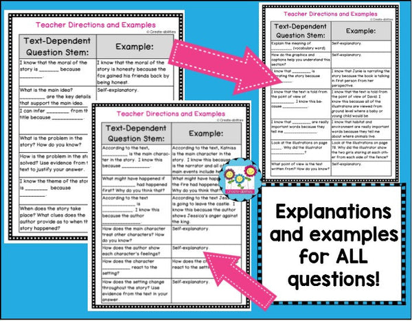 Text Dependent Question Stems
