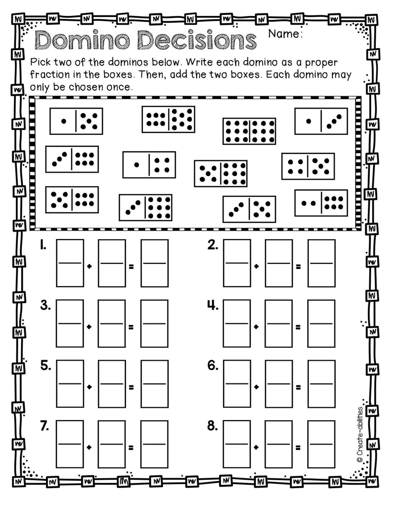 Halloween Coloring Activity - Adding and Subtracting Fractions | TpT