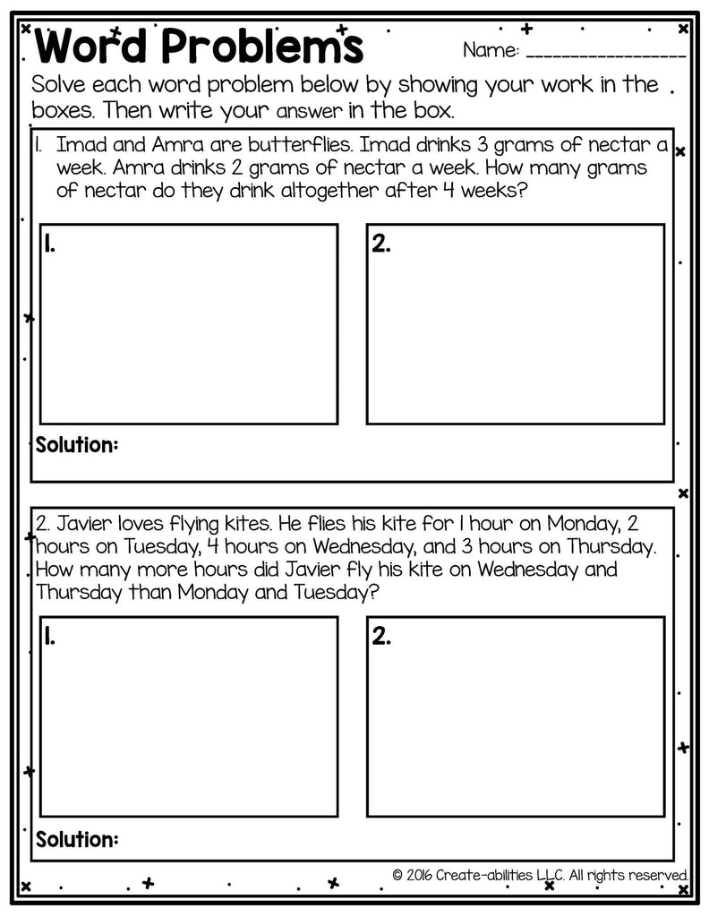 FREE 2-Step Word Problems Using the Four Operations – Create-abilities