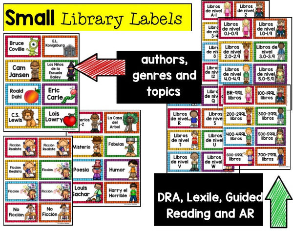 Classroom Library Labels Spanish