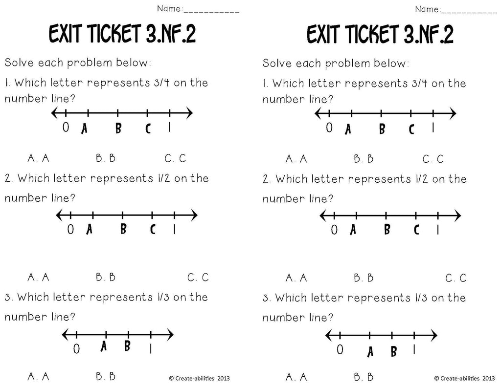 worksheet Create A Number Line fractions on number lines math tasks and exit tickets create tickets