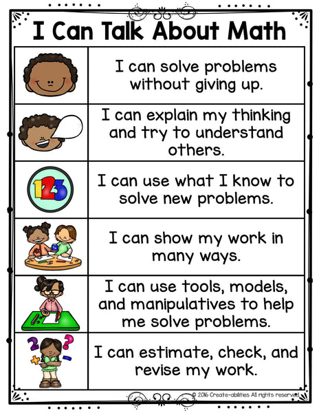 Math Talk and Math Discussion Posters