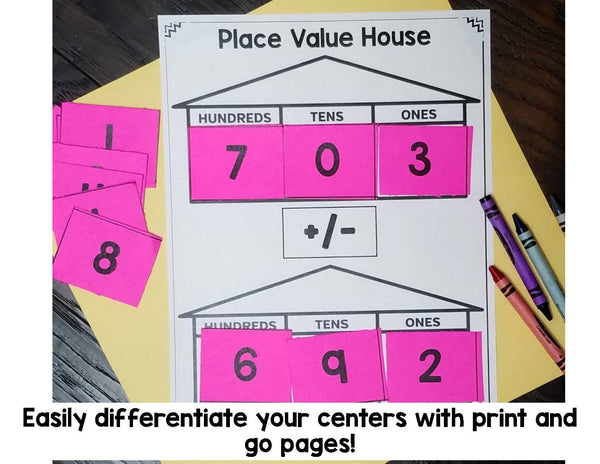 2nd Grade Place Value Math Centers