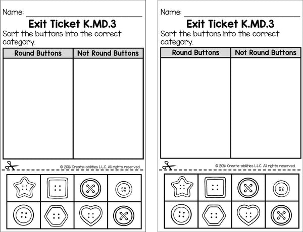 Classifying Objects in Measurement Math Tasks and Exit Tickets