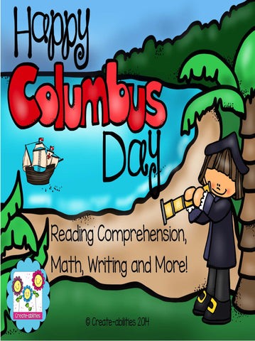 Columbus Day Reading Writing and Math Activities