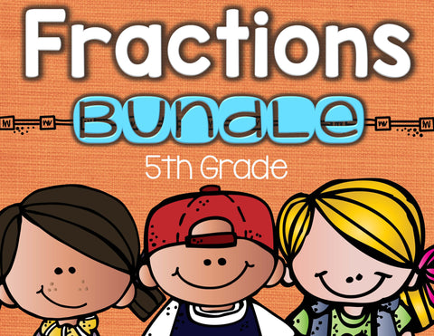 Fractions Bundled Set 5th Grade