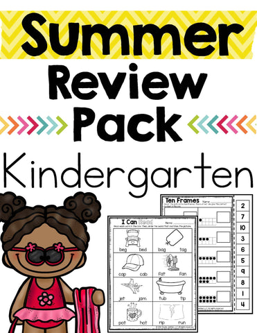 Summer Review Kindergarten