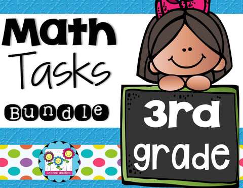 Math Tasks Bundle 3rd Grade