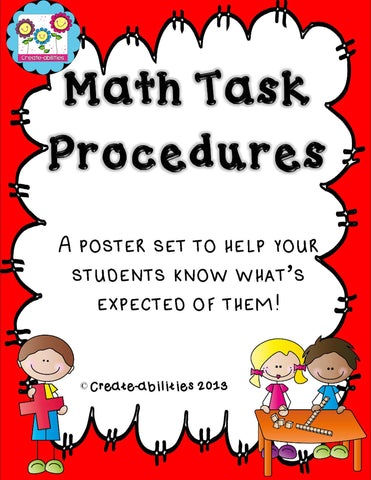 Math Task Procedures FREE