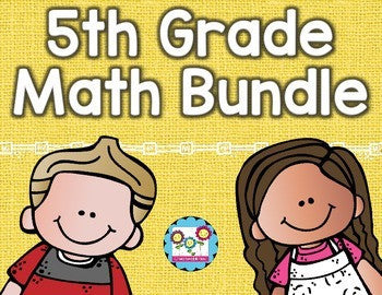 Math Bundle 5th Grade ALL Standards