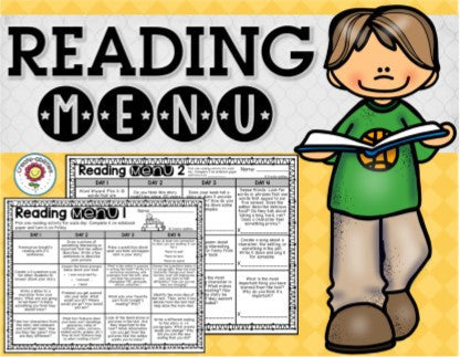 Reading Menus 3rd-5th