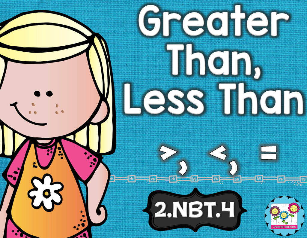 Greater Than Less Than Math Tasks and Exit Tickets