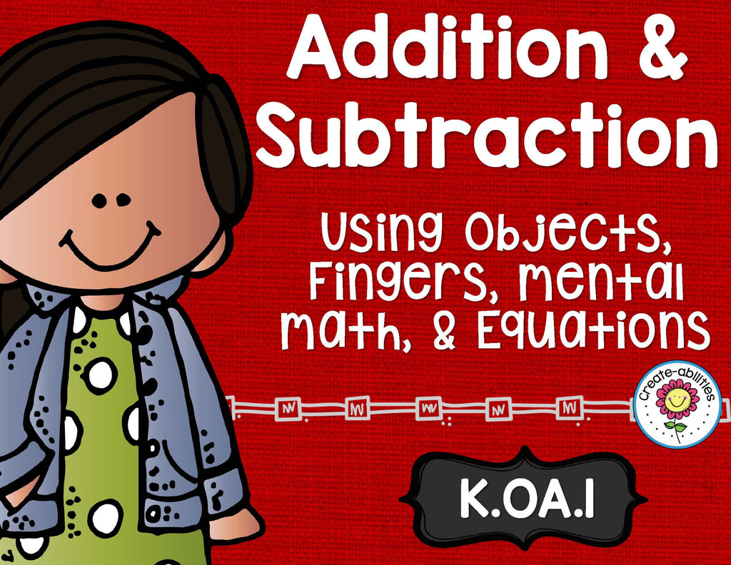 Addition and Subtraction Word Problems Within 10 Math Tasks and Exit Tickets