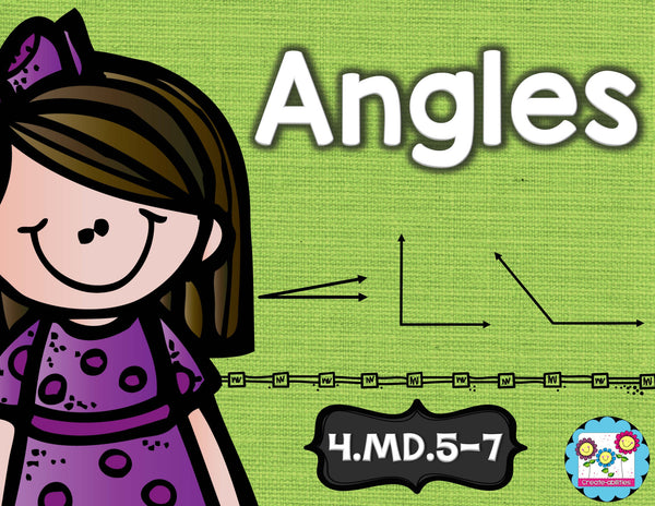 Angles Math Tasks and Exit Tickets