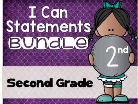 I Can Statements Bundle 2nd Grade