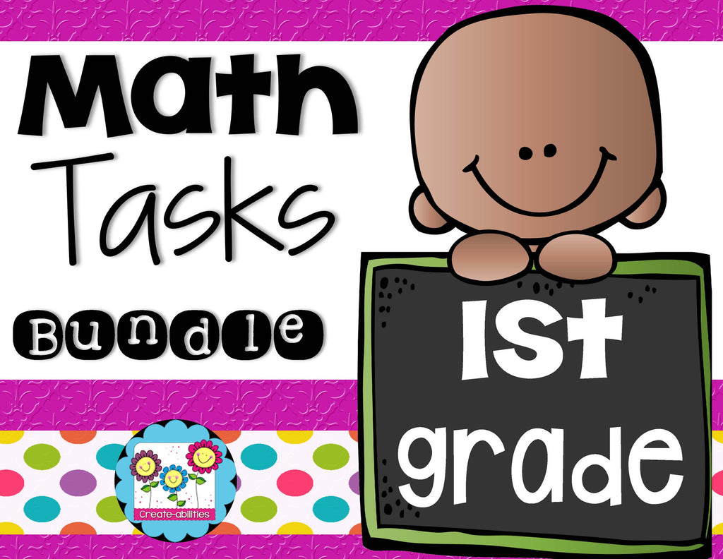 Math Tasks Bundle 1st Grade