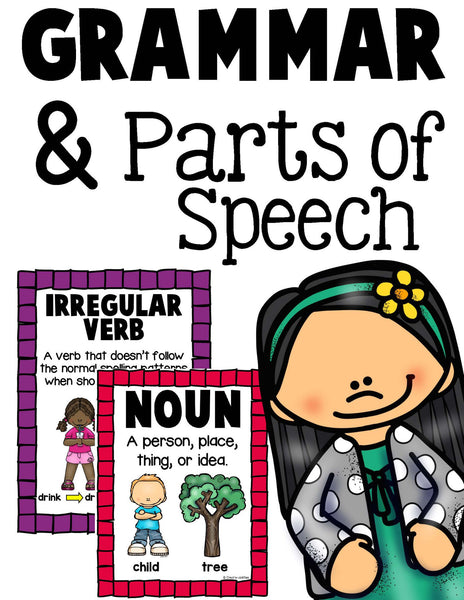 Grammar and Parts of Speech Posters