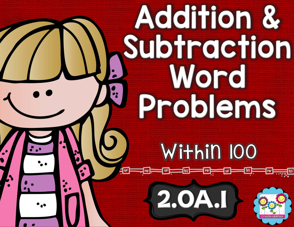 Add and Subtract Word Problems Math Tasks and Exit Tickets