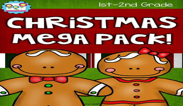 Christmas Reading Writing and Math Activities Grades 1-2