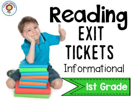 Informational Reading Exit Tickets 1st Grade