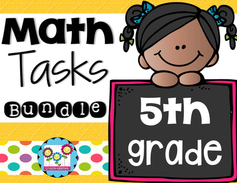 Math Tasks Bundle 5th Grade