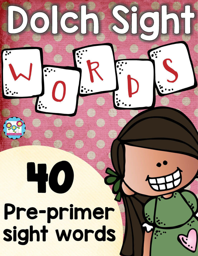 Sight Words Practice Pre-Primer
