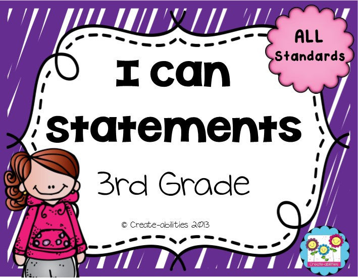 I Can Statements 3rd Grade Math