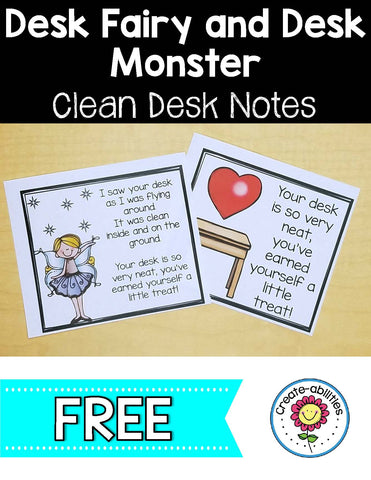 Desk Fairy and Desk Monster Clean Desk Notes