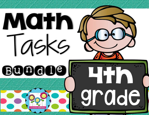 Math Tasks Bundle 4th Grade