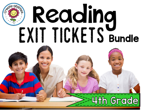 Reading Exit Ticket BUNDLE 4th
