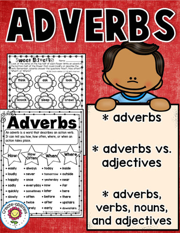 Adverbs Printables and Interactive Notebook Templates