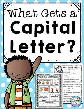 Capital Letters Posters and Bookmarks