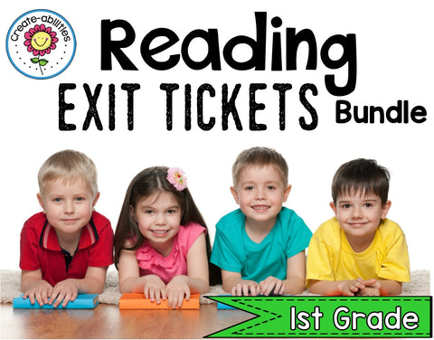 Reading Exit Ticket BUNDLE 1st