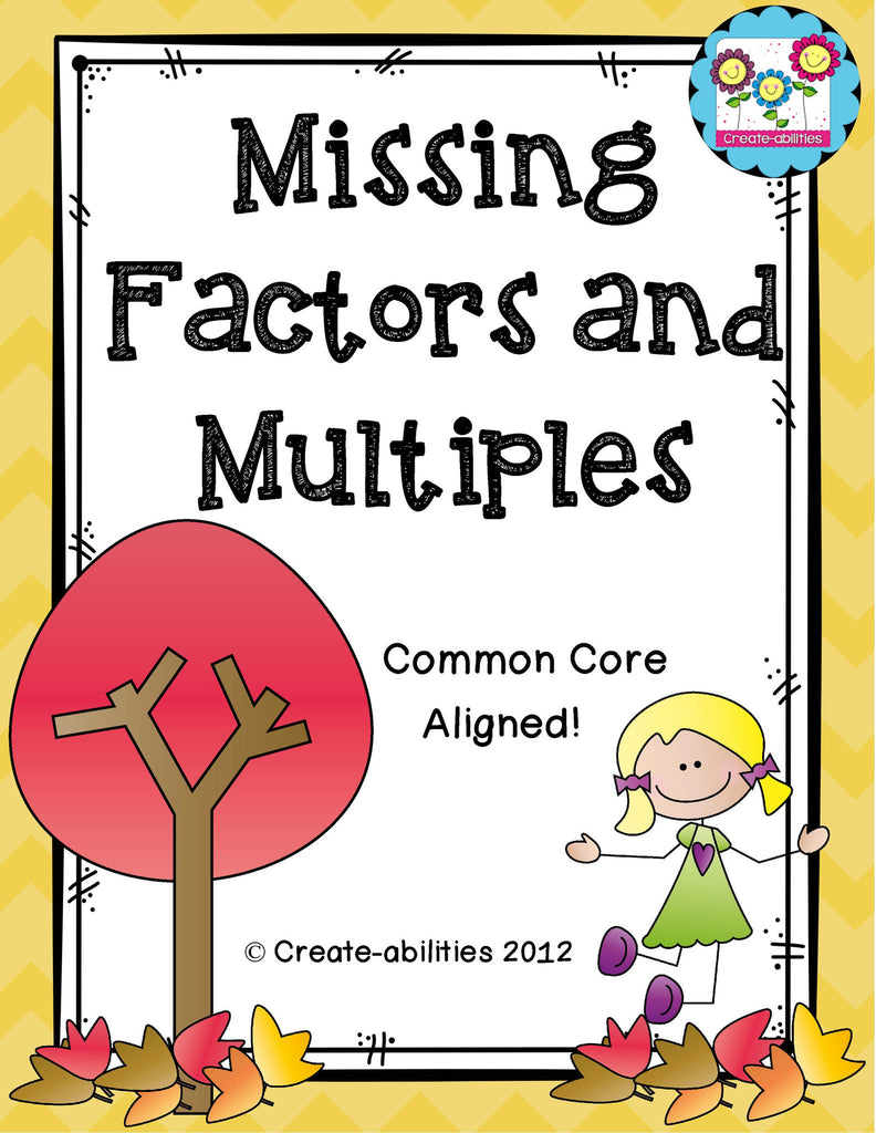 Missing Factors and Multiples FREE