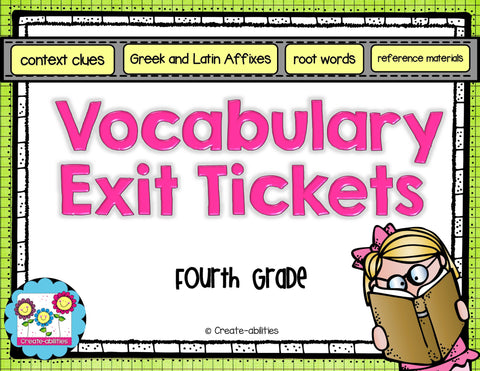 Unknown Words and Multiple Meaning Words Exit Tickets