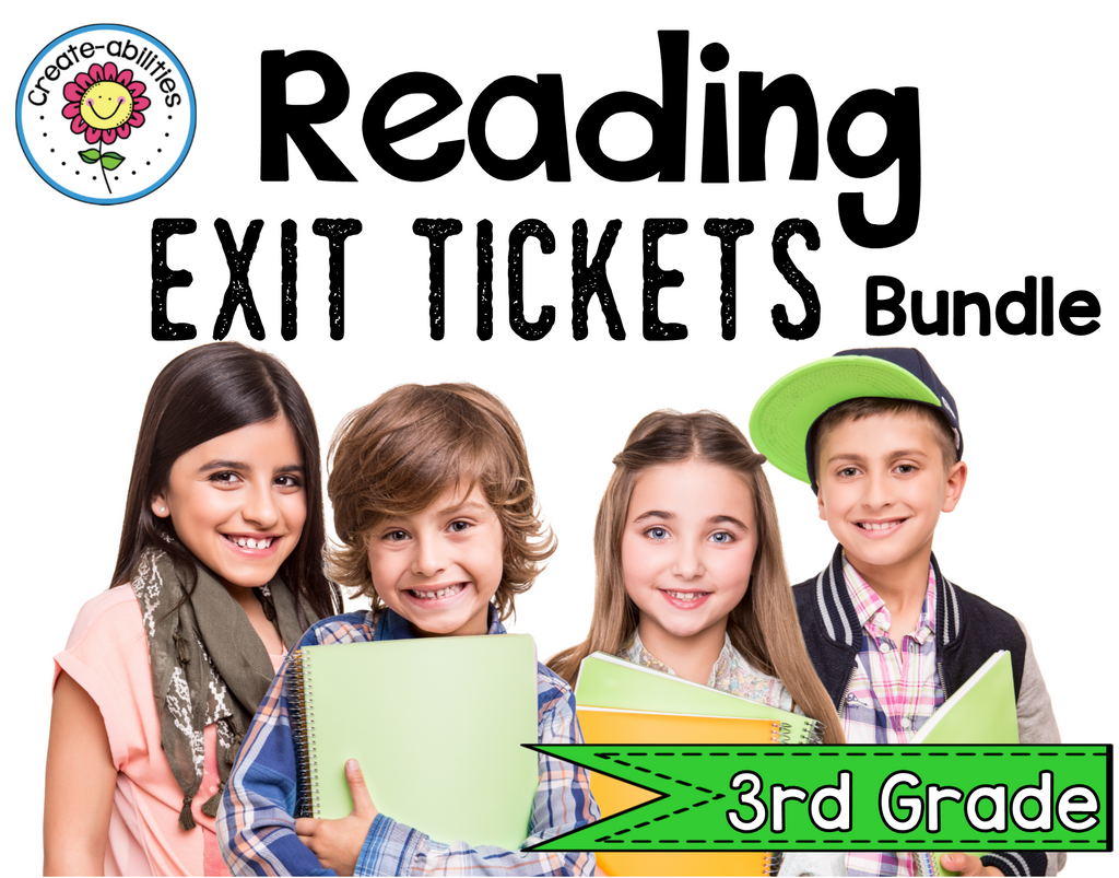 Reading Exit Ticket BUNDLE 3rd