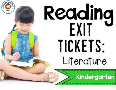 Reading Exit Tickets Kindergarten