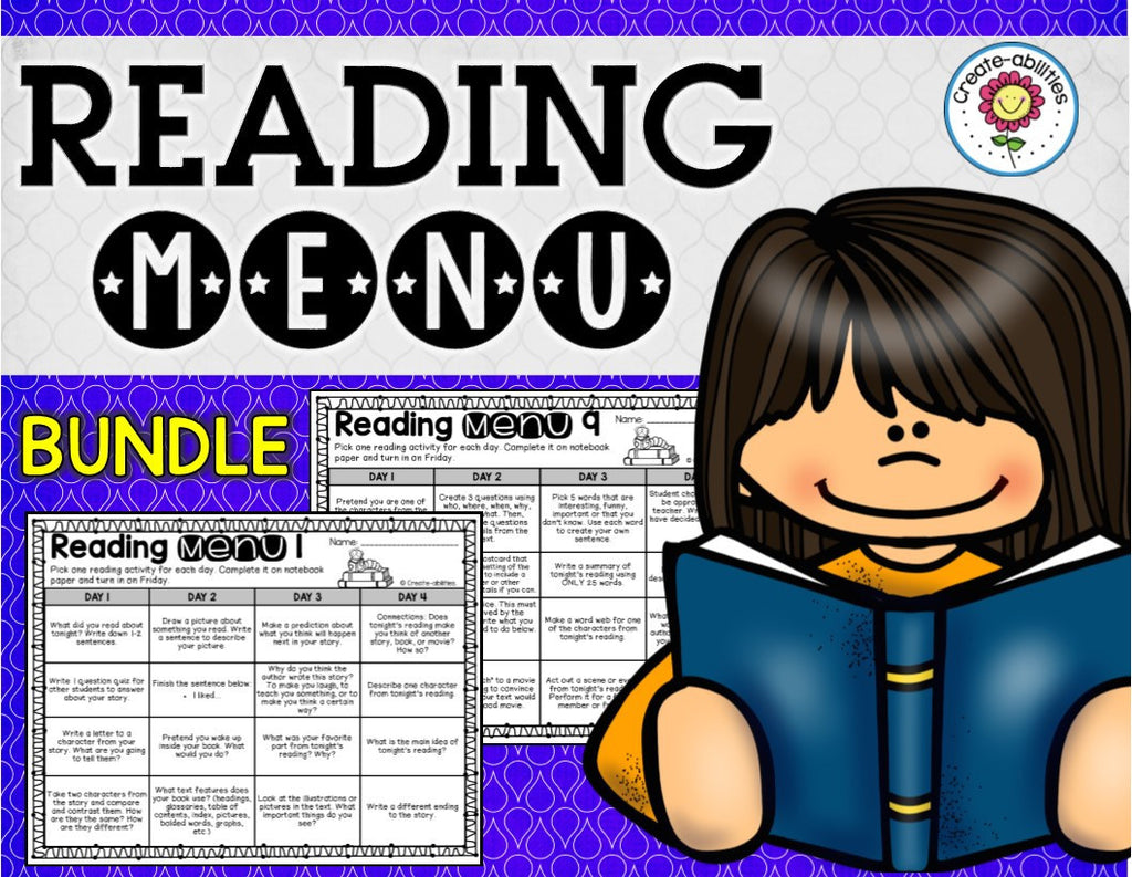 Reading Menus Bundle