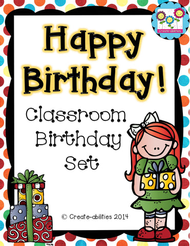 Classroom Birthday Set