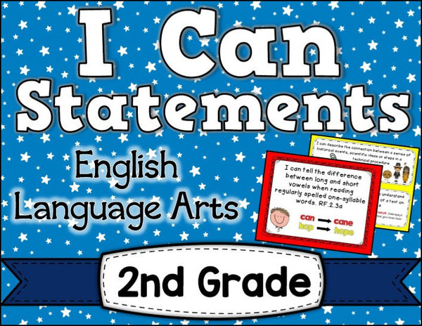 I Can Statements 2nd Grade ELA
