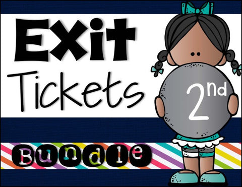 Exit Ticket Bundle 2nd Grade