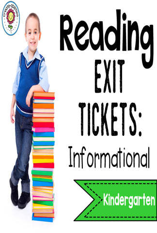 Informational Reading Exit Tickets Kindergarten